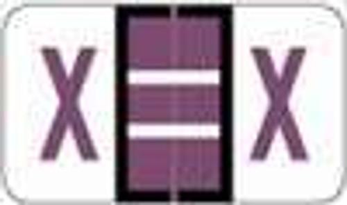 "POS 3400 Series (Sheets) - Letter X - Purple - 15/16"" H x 1-5/8"" W - 225/Pack?ÿ"