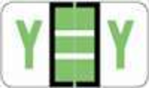 """POS 3400 Series (Sheets) - Letter Y - Lt. Green - 15/16"""" H x 1-5/8"""" W - 225/Pack?ÿ"""