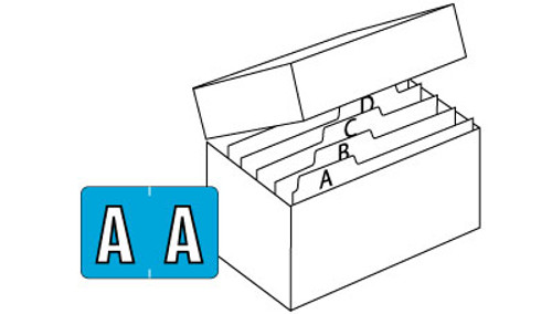 "PMA 3900 Series (Sheets) - Complete Set A-Z + Mc-  1"" H x 1-1/2"" W  - 1 Pack of 225 each letter plus File Box and Indexes."