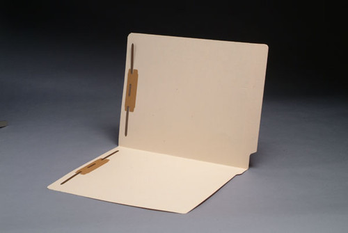 14 Pt. Manila End Tab Open Shelf File Folder - Fasteners in Positions 1 & 3 - Letter Size - Single Ply Tab - Box of 50