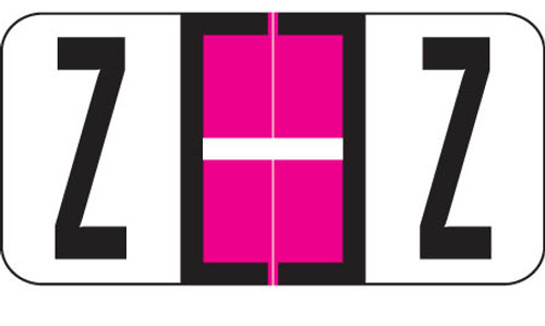 """Reynolds and Reynolds Alphabetic Labels - Z - Pink - 500/Roll- 3/4""""H X 1-1/2""""W"""""""
