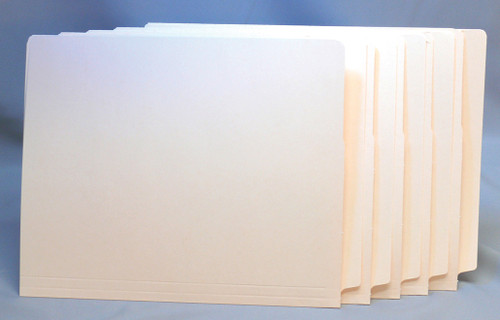 GBS 15 Pt. End Tab Folder with Bonded Fastener in Position 1 - Letter Size  - Reinforced Tab