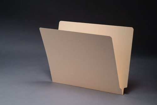 End Tab File Folder w/ Fastener in Position 3 - 14 Pt. Manila - Letter Size - Reinforced Tab - 50/Box