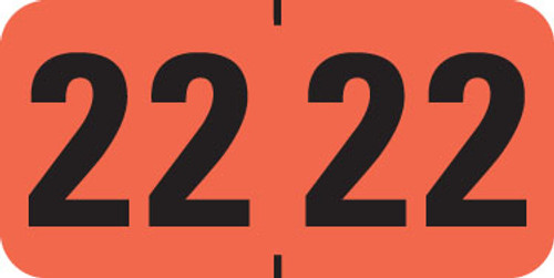 Medical Arts Press 2022 Yearband Label - LT. ORANGE -  Medical Arts Press Series MAYM - 500/Roll