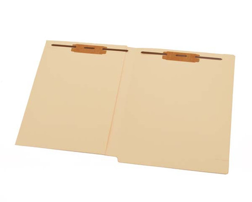 14 pt Manila Folders, Full Cut End Tab, Letter Size, Drop Front, Full Inside Front Pocket, Fasteners Pos #1 & #3 (Box of 50)