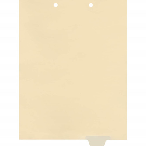 Write-On Bottom Tab Chart Dividers- Blank -  Tab Position 5- Clear Mylar Tab - 100/Pack