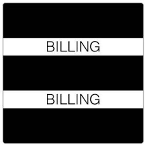 "AmeriFile Chart Divider Tabs - ""Billing"" - Black - 1 1/2"" X 1 1/2"" - 102/Pack"