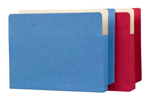 "Side Tab File Pockets - Orange - 5-1/4"" Expansion - Letter Size 9-1/2"" x 12-1/2"" - 100/Carton"