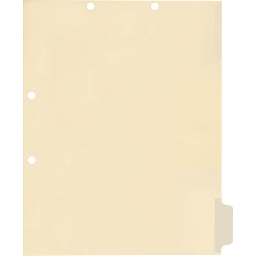 Medical Arts Press Match Write-On Side Tab Chart Dividers- Blank, Tab Position 6- Clear (100/Pkg) (56835)