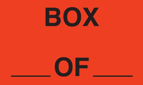 """Tabbies 43541 - BOX_ OF _ - FL RED - 3"""" X 5"""" - 500/ROLL"""