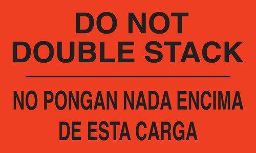 "Tabbies 43571 - DO NOT DOUBLE STACK / NO PONGAN NADA ENCIMADE ESTA CARGA - FL RED - 3"" X 5"" - 500/ROLL"