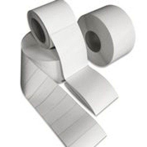 "Tabbies 40041 - DIRECT THERMAL LABEL, 3"" CORE - WHITE - 4"" X 1"" - 5,100/ROLL"