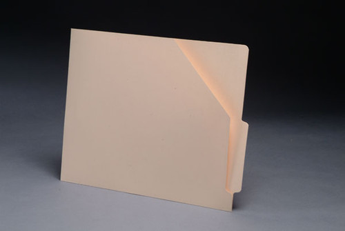 "Slant Cut Pocket Folder - End Tab Folder with 4"" End Tab - Letter Size - Reinforced Tab - 100/Box"