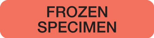 """""""FROZEN SPECIMEN"""" LABEL -  FL. RED - 1-1/4"""" X 5/16"""" - 250/BOX"""