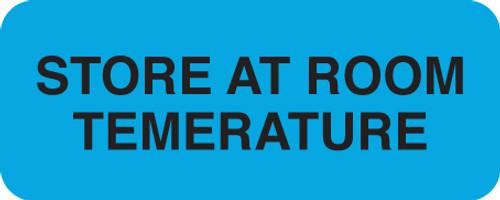 """STORE AT ROOM TEMPERATURE"" LABEL -   FL. BLUE - 1-7/8"" X 3/4"" - 250/BOX"
