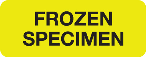 """FROZEN SPECIMEN"" LABEL -   YELLOW - 2-1/4"" X 7/8"" - 250/ROLL"
