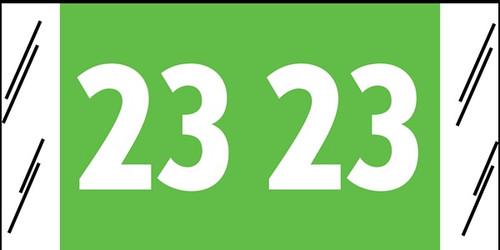 "Tabbies 11723 - ORIGINAL COL'R'TAB® YEARCODE 11700 LABEL SERIES, 3/4"" YEARCODE LABELS '2023', Light Green, 3/4""H x 1-1/2""W, 1,000/ROLL"