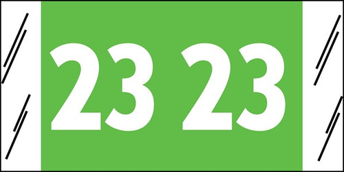 "Tabbies 51723 - ORIGINAL COL'R'TAB® YEARCODE 51700 LABEL SERIES, 3/4"" YEARCODE LABEL '2023', LIGHT GREEN, 3/4""H x 1-1/2""W, 500/ROLL"