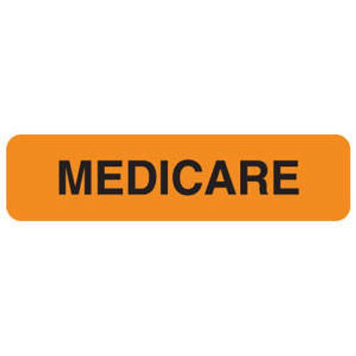 "Tabbies MAP113 - ""Medicare"" Fluorescent Orange - 1 1/4""W x 5/16"" H - 500/Roll"