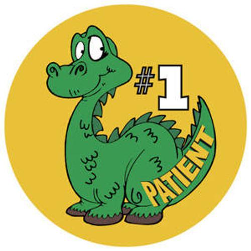"Tabbies 20001 - #1 Patient - Din - Green - 1 3/4"" Circle - 100/Roll"
