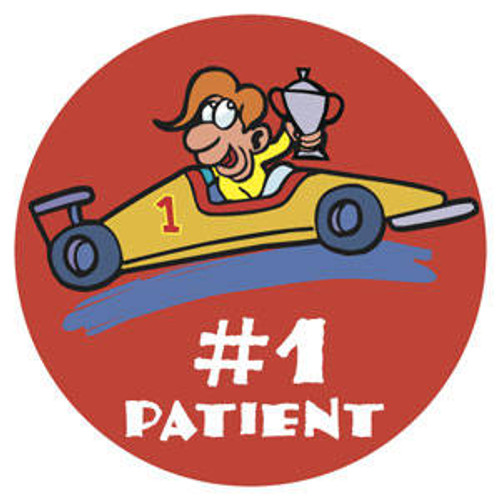 """Tabbies 20007 - #1 Patient - Car - Red - 1/ 3/4"""" Circle - 100/Roll"""