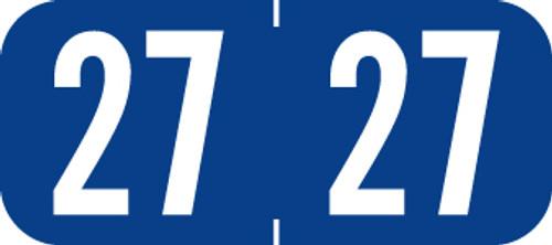 TAB Yearband Label (Rolls of 500) - 2027 - Dark Blue - A1287 Series