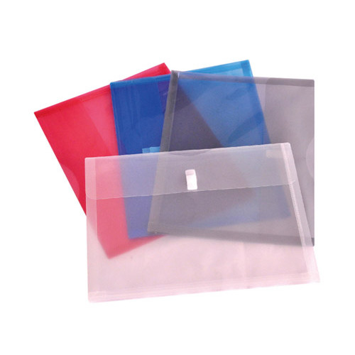 "Expanding Envelope - Velcro Closure - Letter Size 13"" x 9-1/2"" with 1-1/8"" - Color CLEAR - 6/Pack"