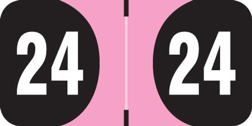"FilingSupplies.com Brand 2024  Yearband Label (Rolls of 500) - 3/4"" H x 1-1/2 ""W - Series"