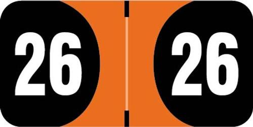 FilingSupplies.com Brand  2026 Yearband Label (Rolls of 500) -  ADYM Series