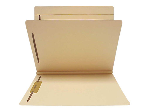14 Pt. Manila Classification Folders with 1 Divider,  4 Fasteners, Full cut Top Tab, Letter Size - 25/Box