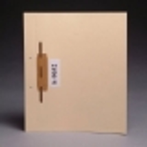 "Manila side hinge fileback divider with 2"" bonded fastener on front by hinge. 11 pt manila stock. Packaged 100/500."