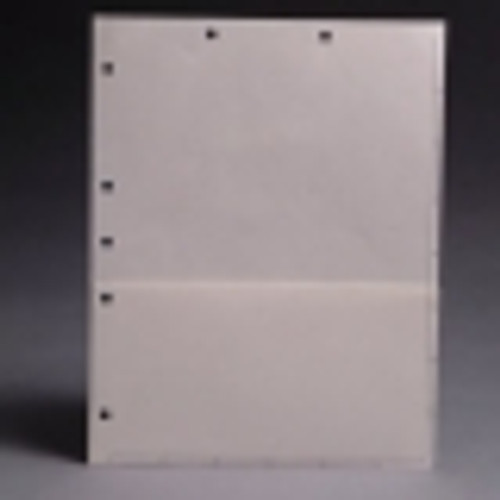 White letter size pocket divider with printed boxes on front. 11 pt white stock. Packaged 50/250.