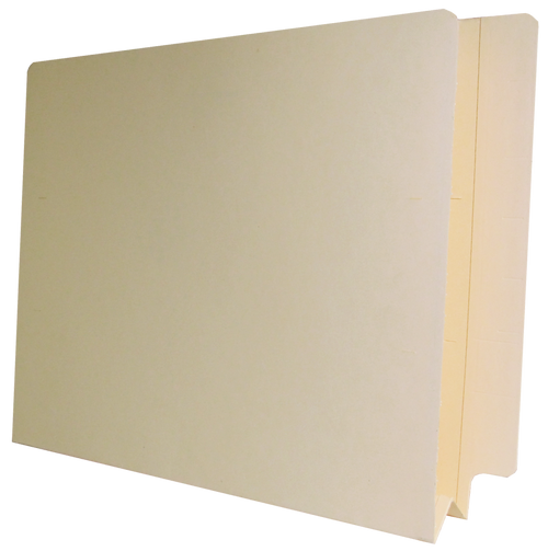 "2"" W-Fold Expansion End Tab Folder - 14 PT. Manila - Reinforced Tab - Barkley Compatible - Letter Size - 200/Carton"