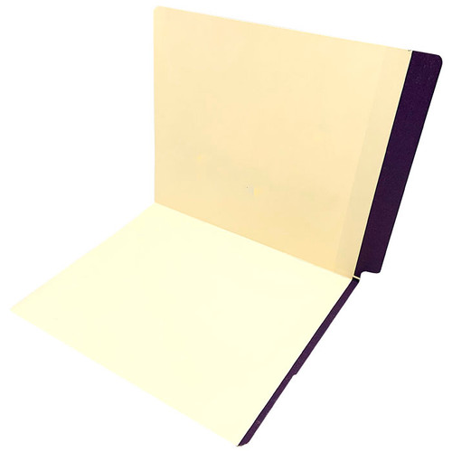11 pt manila PURPLE Color Band folder, letter size, full color reinforced end tab and front color band on edge of front panel. - 350/Carton