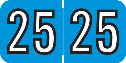Barkley 2025 Yearband Label (Rolls of 500) -  Blue - BAYM Series - Laminated