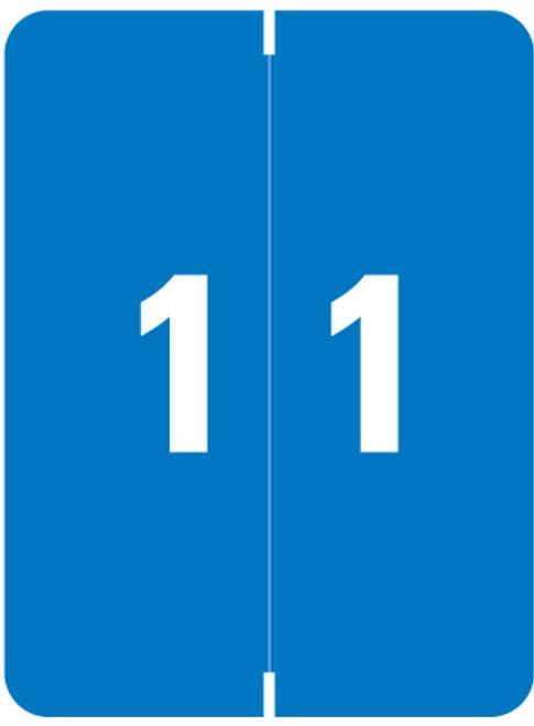 "Smead Numeric Label - XLCC  Series - Number ""1"" - Blue - 2"" H x 1-1/2"" W - 500/Roll"