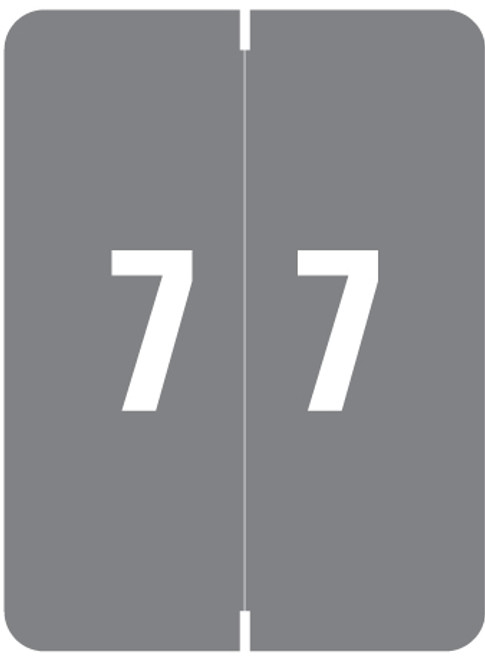 """Smead Numeric Label - XLCC Series - Number """"7"""" - Gray - 2"""" H x 1-1/2"""" W - 500/Roll"""