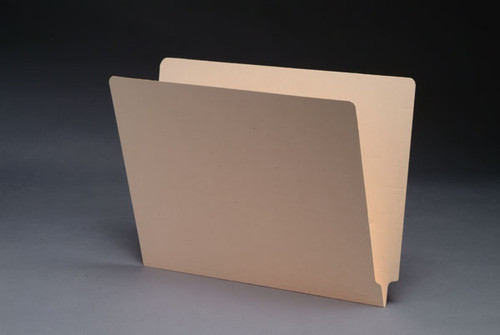 18 Pt. Manila End Tab Folder - Letter Size -  Fasteners in Positions 3 & 5 - 50/Box