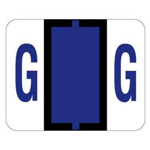 "Jeter Series 6500 Alpha Labels - Letter ""G"" - Purple - 1-1/4"" W x 1"" H - 500/Roll"