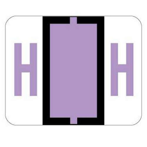 "Jeter Series 6500 Alpha Labels - Letter ""H"" - Lavender - 1-1/4"" W x 1"" H - 500/Roll"