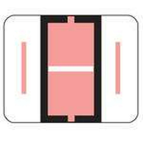 "Jeter Series 6500 Alpha Labels - Letter ""I"" - Pink - 1-1/4"" W x 1"" H - 500/Roll"