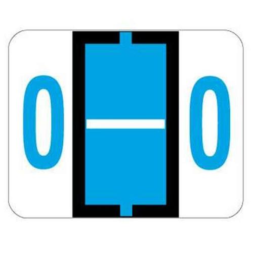 "Jeter Series 6500 Alpha Labels - Letter ""O"" - Blue - 1-1/4"" W x 1"" H - 500/Roll"