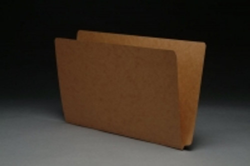 SFI Compatible 17 PT. Brown Kraft End Tab Folders - LEGAL Size with Drop Front - Full Cut End Tab -  50/Box