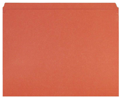 Orange Top Tab Folder - Smead Compatible - 11Pt. Top Tab Reinforced Full Cut Tab - Letter Size - 100/Box