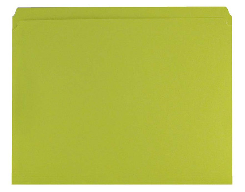 Yellow Top Tab Folder - Smead Compatible - 11Pt. Top Tab Reinforced Full Cut Tab- Letter Size - 100/Box