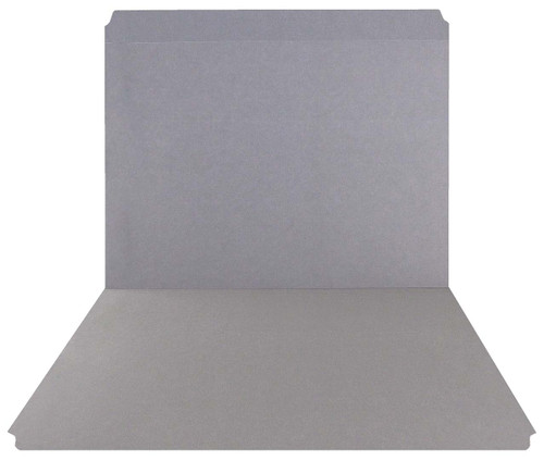 Gray Top Tab Folder - Smead Compatible - 11Pt. Top Tab Reinforced Full Cut Tab- Letter Size - 100/Box