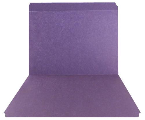 Purple Top Tab Folder - Smead Compatible - 11Pt. Top Tab Reinforced Full Cut Tab - Letter Size - 100/Box