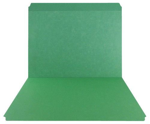 Green Top Tab Folder - Smead Compatible - 11Pt. Top Tab Reinforced Full Cut Tab - Letter Size - 100/Box