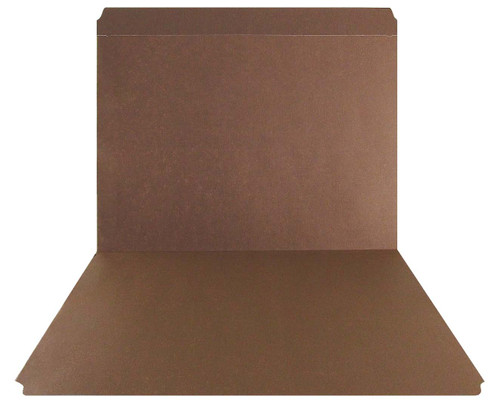 Brown Top Tab Folder - Smead Compatible - 11Pt. Top Tab Full Cut - Reinforced Tab- Letter Size - 100/Box