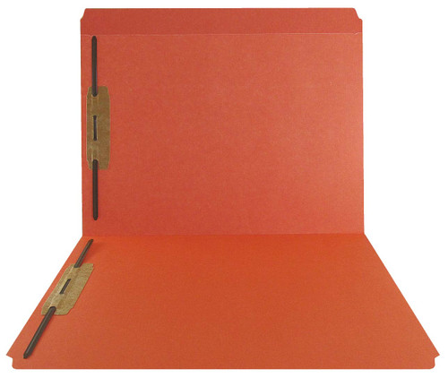 Orange Top Tab Folder - Smead Compatible - 11Pt. Top Tab Reinforced Full Cut Tab - Bonded Fasteners 1&3 - Letter Size - 50/Box